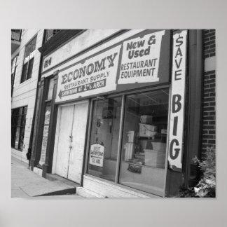 Storefront Philadelphia Black And White Photo Poster