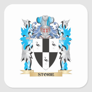 Storie Coat of Arms - Family Crest Square Sticker