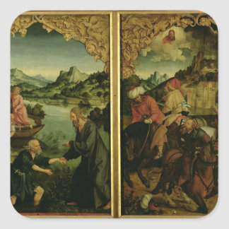 Stories of S.S. Peter and Paul altarpiece: detail Square Stickers