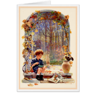 """""""STORING UP"""" VINTAGE CREAM OF WHEAT AD GREETING CARD"""