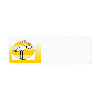 Stork and Baby Bundle Return Address Label