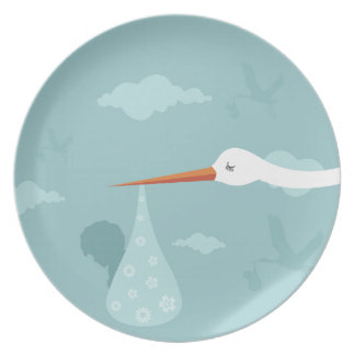 Stork and the kid plates