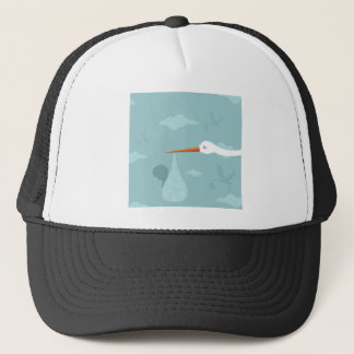 Stork and the kid trucker hat