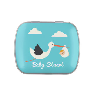 Stork Arrival Jelly Belly Tins