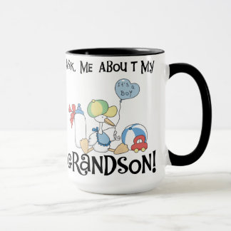Stork Ask About My  Grandson Mug