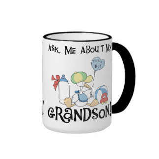 Stork Ask About My  Grandson Mugs