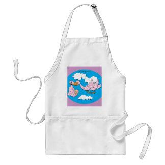 Stork - Baby Girl Adult Apron
