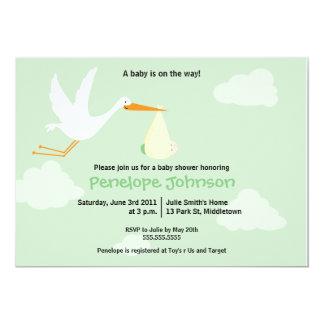 Stork Baby Shower Invitation - Boy/Girl