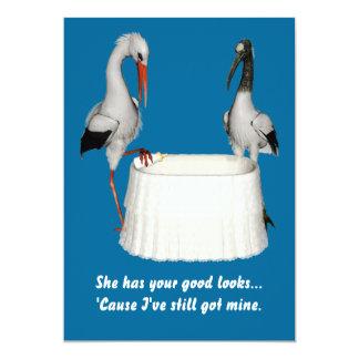 Stork Baby Shower Invite