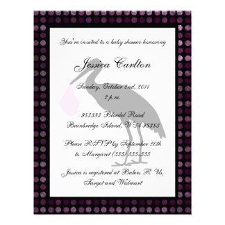 Stork Baby Shower - Pink Custom Invitations