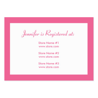 Stork Baby Shower Registry Card - Pink Business Card Templates