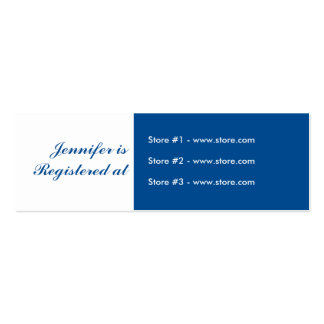 Stork Baby Shower Small Registry Card - Blue Business Cards