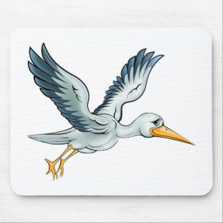 Stork Cartoon Bird Mouse Pad