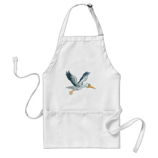 Stork Cartoon Bird Standard Apron