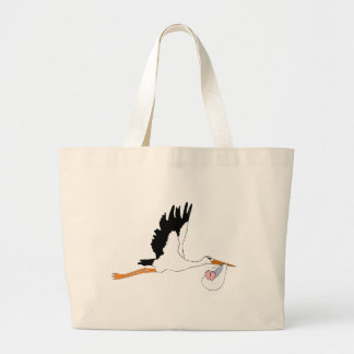 Stork Delivering a Baby Jumbo Tote Bag