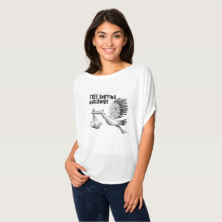 Stork delivering the baby Funny Womens Pregnancy T-Shirt