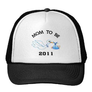 Stork Mom to Be Boys Cap