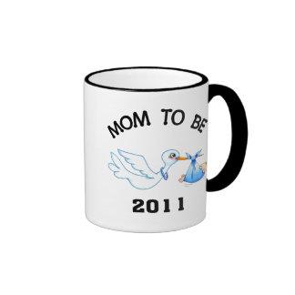 Stork Mom to Be Boys Mug