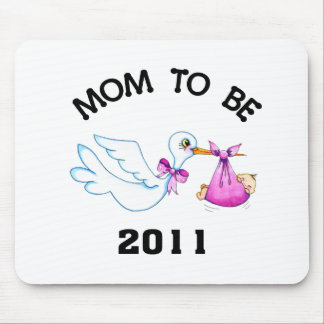 Stork Mom to Be Mouse Pads