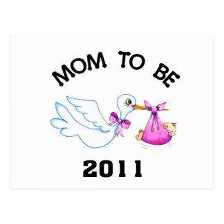Stork Mom to Be Postcard