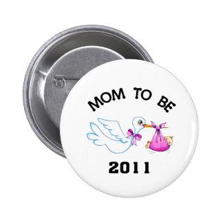 Stork Mum to Be Pinback Button