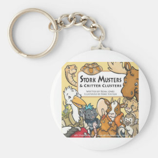 Stork Musters Basic Round Button Key Ring