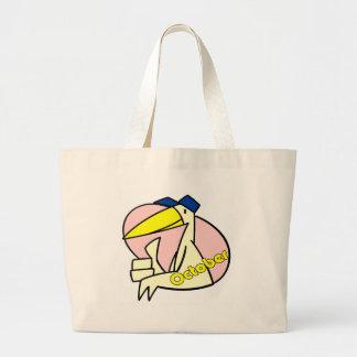 Stork October Due Date Tote Bag