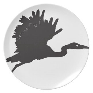 Stork Silhouette Plate