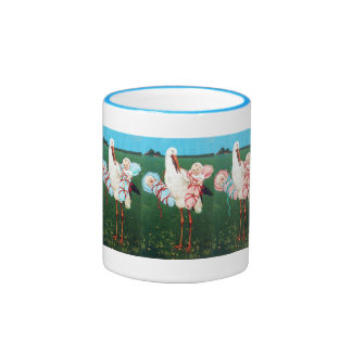 STORK TWIN BABY SHOWER, Pink ,Teal Blue Mugs