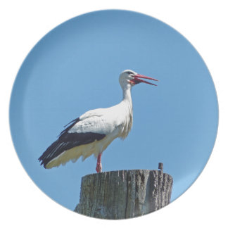 Stork with blue sky (Storch) Plates