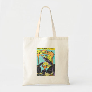 Stork Without A Cause Tote Bags