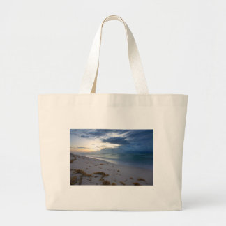 Storm Approaching Miami Beach Large Tote Bag