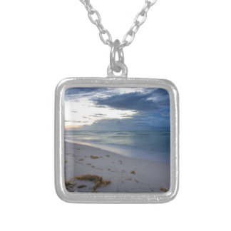 Storm Approaching Miami Beach Silver Plated Necklace