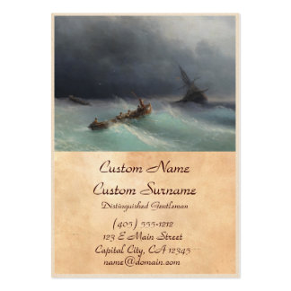 Storm at Sea Ivan Aivasovsky seascape waterscape Pack Of Chubby Business Cards