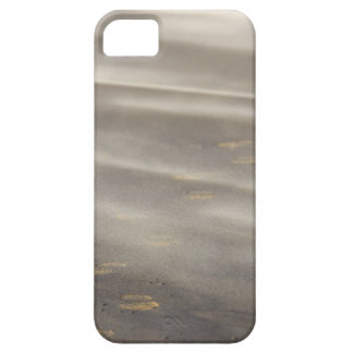 storm blowing shifting sand over boot prints 2 iPhone 5 cases