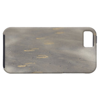 storm blowing shifting sand over boot prints iPhone 5 cover