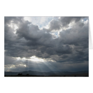 Storm Breaks Over Horse Country - Western Sympathy Card