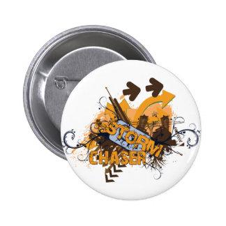 Storm Chaser Grunge 6 Cm Round Badge