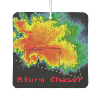 Storm Chaser Hook Echo Radar Image Car Air Freshener