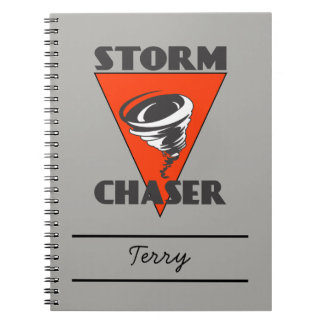 Storm Chaser Tornado and Red Triangle Notebook