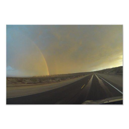 Storm Chasing in the Mojave Desert Art Photo