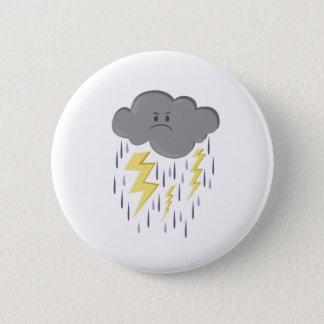 Storm Cloud 6 Cm Round Badge