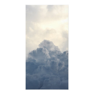 Storm Cloud Heavenly White Clouds In Sky Custom Photo Card