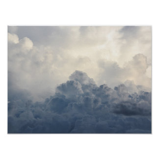 Storm Cloud Heavenly White Clouds In Sky Poster