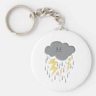 Storm Cloud Keychain