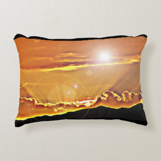 Storm Clouds in Lens Accent Throw Pillow