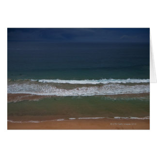 Storm clouds out ot sea above Mona Vale Beach Greeting Card