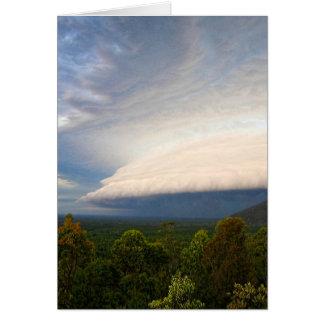 Storm clouds over Australian landscape Card
