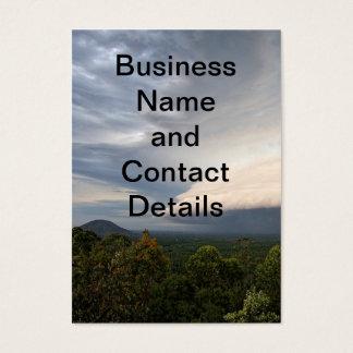 Storm clouds over landscape business card