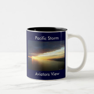 Storm Clouds Pacific, Pacific Storm, Aviators View Two-Tone Mug